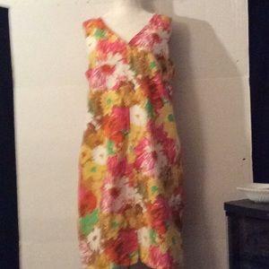 Talbots petites floral loose casual dress # 14 P